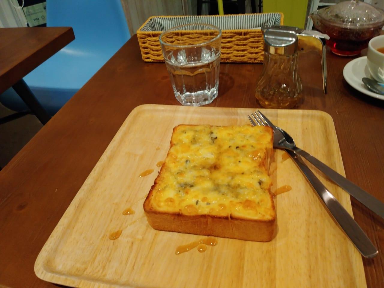 ゴルゴンゾーラとハニーメープルのトースト